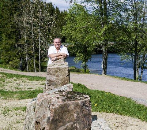 Tidslinje: Tidslinja blir informativ og lærerik både for barn og voksne, sier Oddvar Steinsholt.foto: inger lene o. steen