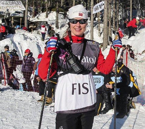 SENTRAL: Marte Aagesen Trondsen fra Hønefoss satt i juryen da Johannes Høsflot Klæbo ble disket etter femmila i VM.