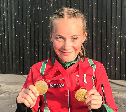 GULLJENTE: Synne Sandven ble gulljente to ganger i helgen. Hun vant både langdistanse og sprint under Hovedløpet.