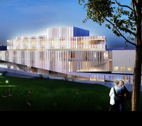 Hvilke rammer er gitt for kulturhusarbeidet? Tegning: C.F. Møller Norge AS