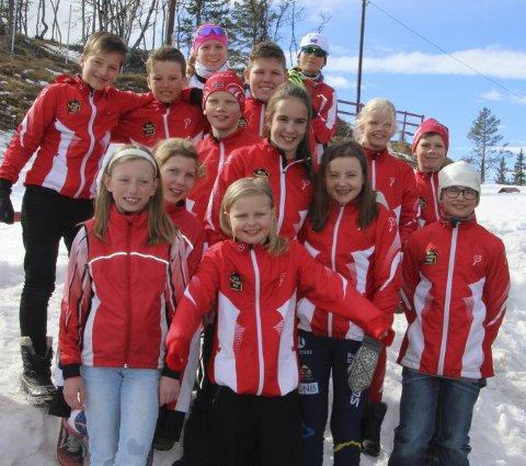 FIN GJENG: IL Ivrigs flott skiskyttere som deltok på Liatoppen. FOTO: PRIVAT