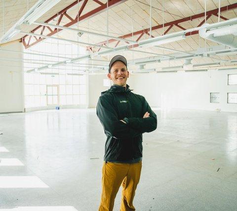 Mats Ola Martinsen i Feel24 er klar til å åpne det nye treningssenteret på Mørkved om et par måneder.