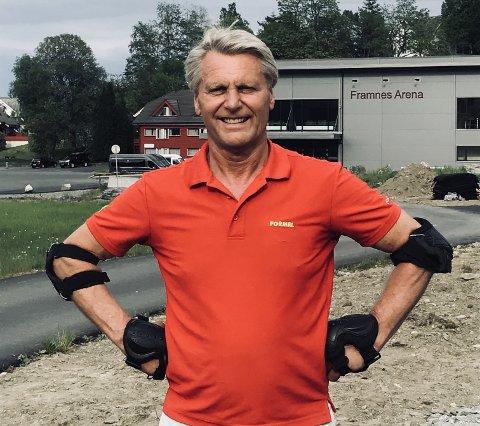 Brynjulf Måkestad er primus motor for den nye rulleskøytebanen.