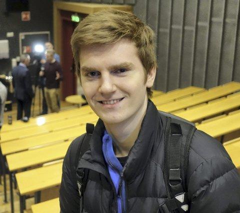 Ole Marius Tysse (22) fra Osterøy går på Europa-studiet på UiB.