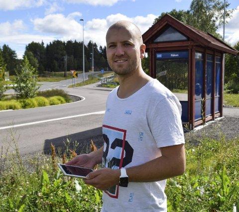 INITIATIV MED RESULTAT: Gregard Pallotta ønsket seg fiber til Råken og nå ser det ut til å gå i boks.