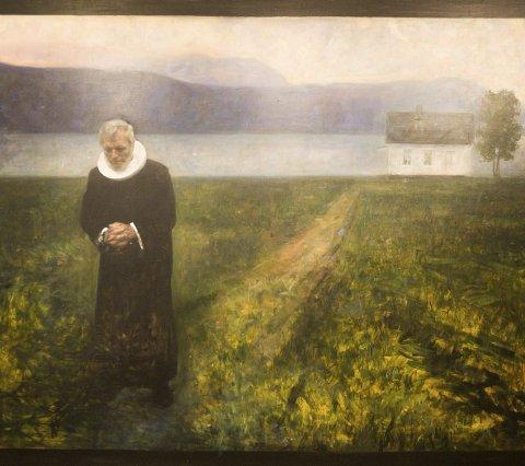 Portretter: Det dukker også opp portretter av kjente mennesker. Børre Knudsen er en av dem.