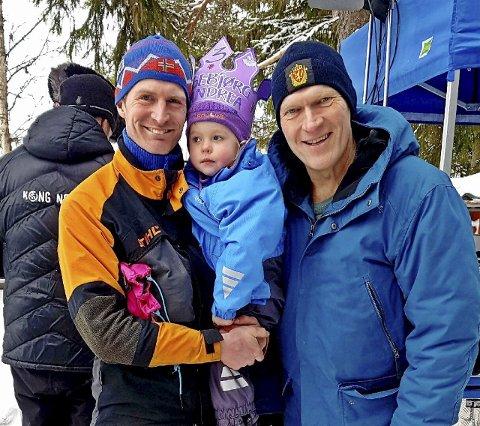 STAS: Arne Wilhelm Mohn Omsted med datteren Ingebjørg og hovedrolleinnehaver Sven Nordin.
