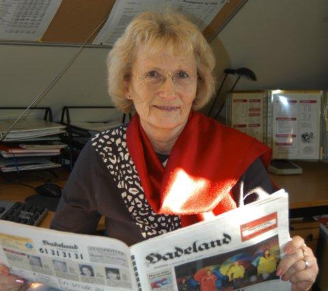 30 ÅR: Else Lynnebakken jobbet i avisen Hadeland i 30 år. Hun var dispontent i fem.