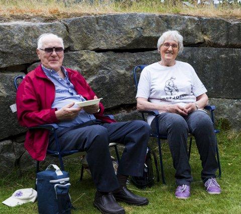 Hele dagen på festival: Ivar Nilsen Klevmo og Anine Møistad var på festivalen fra tidlig lørdag formiddag.