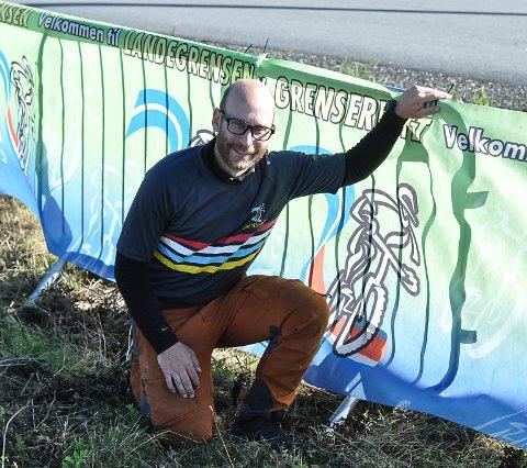 HÅPER: Vegard Halvorsen, daglig leder i Grenserittet, planlegger for sykkelfest fra Strömstad til Halden om snaut 200 dager.