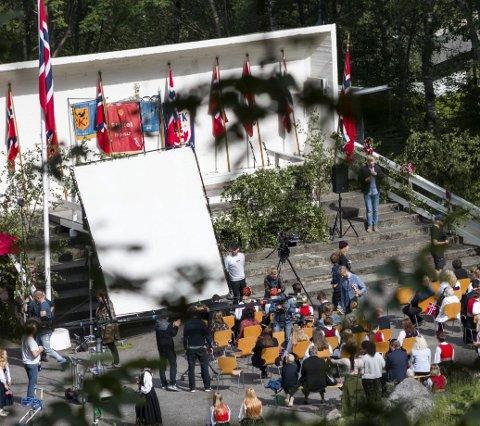 Ragnarok: Her fra Hovden, under innspillingen av sesong 1, sommeren 2019. Arkivfoto: Sondre Lingås Haukedal