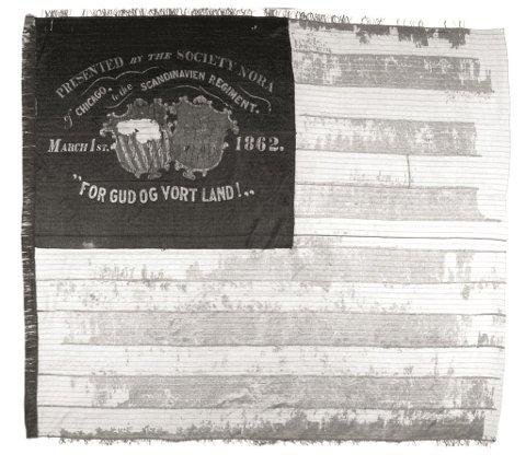 HISTORIE: Borgerkrigen i USA: 1861-1865. Her er fana til «The Skandivavian regiment».