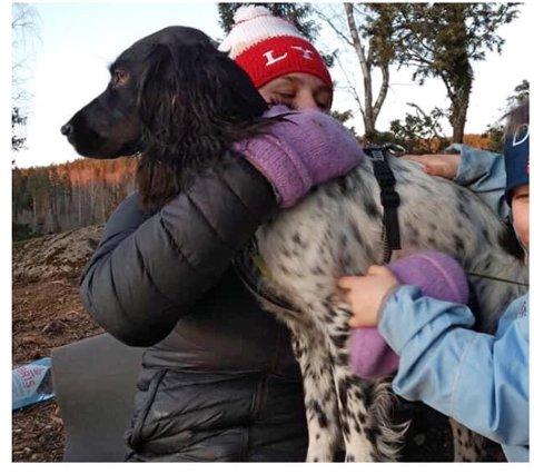 FORFERDELIG: Eierne til Ranja synes det er forferdelig å tenke på hundens skjebne, og oppfordrer alle bassengeiere til å sørge for sikring og jevnlig tilsyn.
