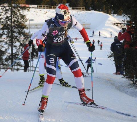 STIGNING: Mathilde Skjærdalen Myhrvold viser framgang på distanserenn etter en oppkjøring preget av kneskade.