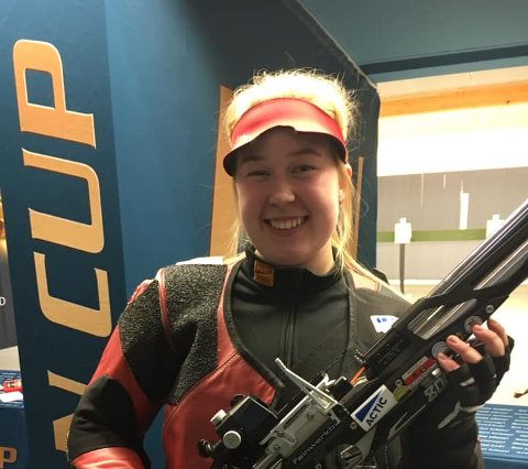 STERK SKYTING: 18 år gamle Mari Bårdseng Løvseth endte på pallen i Tyskland.