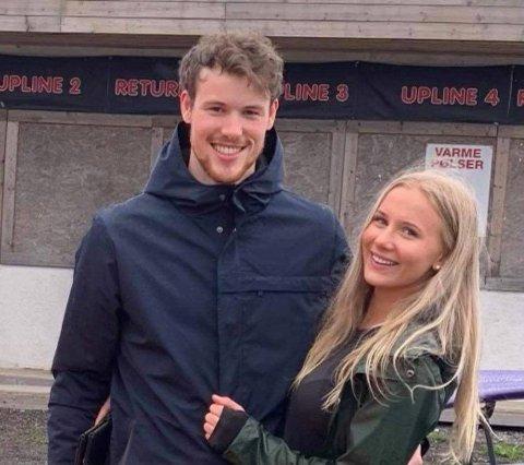 KLAFF: Magnus Bakken Haugli måtte legge skøytene på hylla, men fant lykken med Emmy.