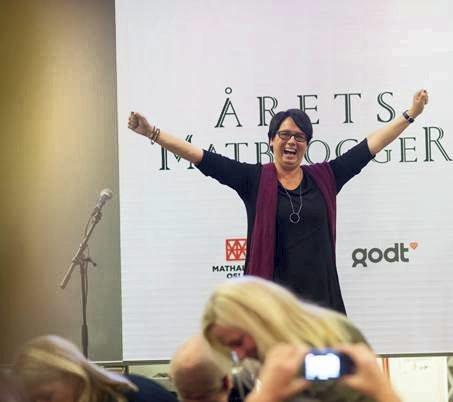 Slik så det ut sist gang Trine Sandberg vant prisen som «Årets Matblogger».