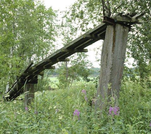 Ruiner: Ved vannet kan man se ruinene fra tiden da de fraktet tømmer fra Goksjø.