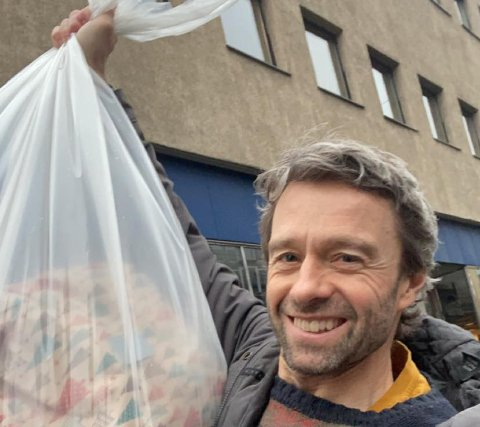 DER VAR'N! Geir Evensen trodde gavene var stjålet...