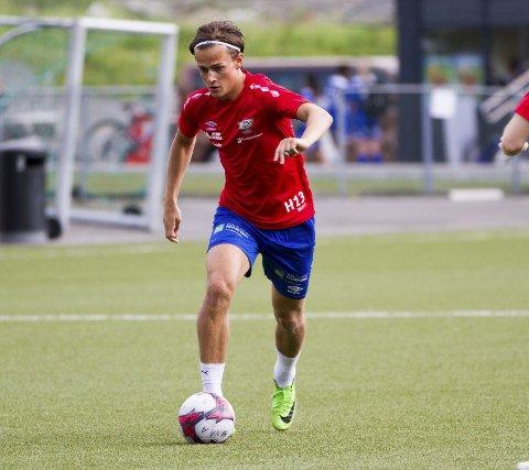 Fanas Henrik Udahl har banket inn 20 mål for klubben denne sesongen. FOTO: BERNT-ERIK HAALAND