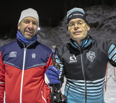 LE­DE­RE: Bernt Rus­ten fra Hor­da­land ski­krets sam­men med kurs­le­der Chris­ti­an Sæ­ters­dal fra TIF Viking.