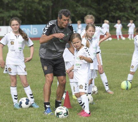 FOTBALLSKOLE:  Andrea Caronti er tilbake på Borrebanen for Italent fotballskole den første uka i juli i år.