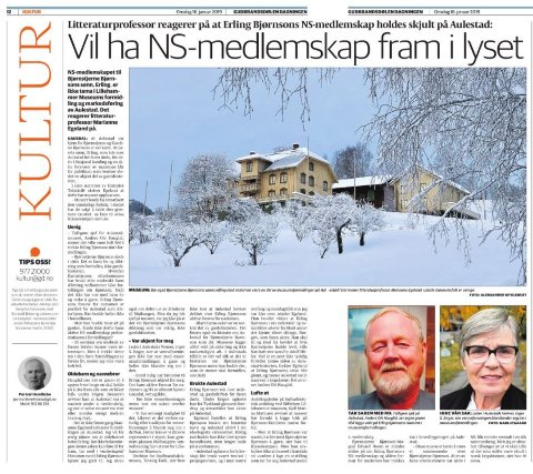 AULESTAD: Skal Aulestad også fortelle historien om at Bjørnstjerne Bjørnsons sønn ble aktiv nazist før og under 2. verdenskrig, eller avgrense museets formidling til dikterhøvdiingens liv og virke? Dette er det uenighet om.
