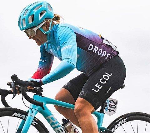 GOD DAG: Emilie Moberg ble nummer 14 under torsdagens World Tour-ritt i Belgia. Det er en hennes beste WT-plassering på fire år.