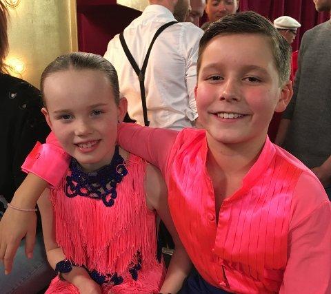 Videre i Norske talenter: Stine Finholt (9) og Edvard Braathen (10).