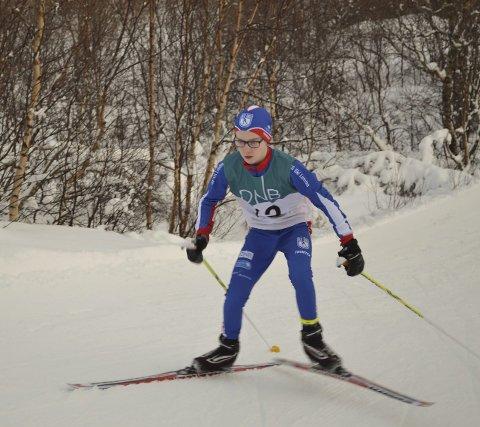 Fint driv: Eivind Fredriksen, KS Ski Lofoten.
