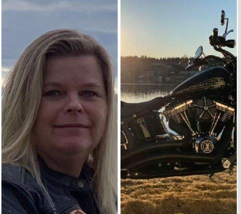 HELT SJEF: Peggy Sandbekken Heie (52) har vært opptatt av motor og motorsykler hele sitt liv. Nå skal hun hive hun seg på Harleyen til Oslo for å løse IT-sikkerhetsutfordringer for Sparebank1.