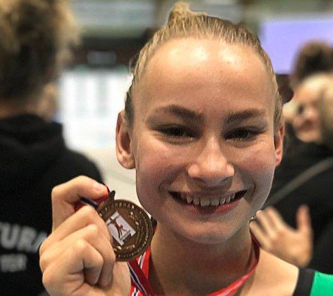 Kaisa Gromstad Ulstrup tok bronse i Turn NM for juniorer. 14-åringen turner i Stag turn.