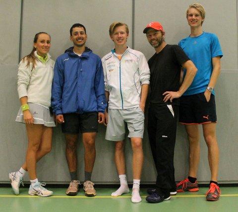 STYRET: Interimsstyret består av fra venstre Laura Vinikaitiene, Even Bjørheim, Marius Paltto, Odd-Erik Helgesen og Jon Andreas Næsgaard.