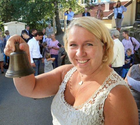 BLIR MED PÅ LEIR: Rektor på Haslum skole, Elisabeth Wiese, forsåtr at foreldre er bekymret. Nå blir hun med på leirskolen for å berolige foreldrene. Dette bildet er tatt i forbindelse med skolestart tidligere i år.