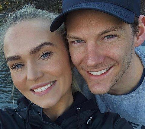 ET PAR: Håndballkeeper Torbjørn Bergerud og kjæresten Karoline Dahl.