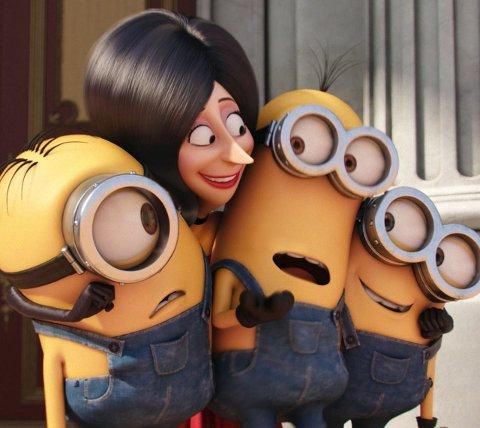 Animasjon best: «Minions» toppet besøkslisten i juli, med nesten 10.000 besøk.Foto: Filmweb.no