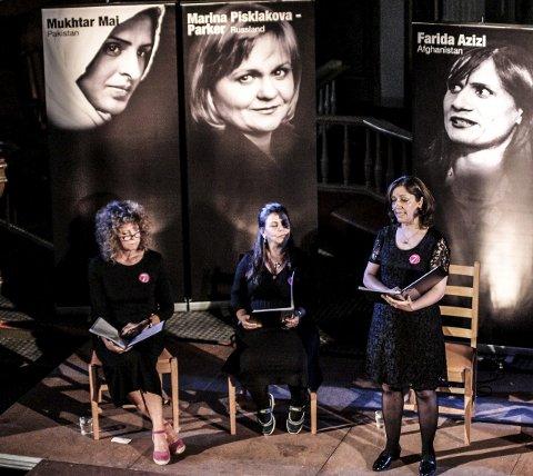 Syv kvinnehistorier: Kari Agerupri Agerup,  Nahid Kallami og Fereshteh Golparvarfoto: john johansen