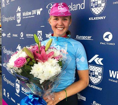 TIL TOPPS: Silje Mathisen vant den siste etappen av det irske etapperittet Ras na mBan.