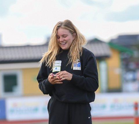 NY VERDENSREKORD: Henriette Jæger fornektet seg ikke under friidretts Km i Moss.