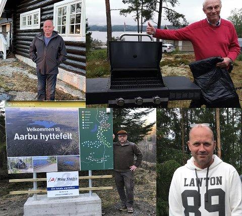 Hytteeiere reagerer på de nye kommunale avgiftsatsene i Aremark. Oppe fv Alf Frevert (Skodsbu), Hans Christian Erlandsen (Skjulstad). Nede fv Martin Engeset (Aarbu) og Espen Normann Olsen (Buer).