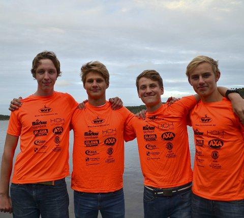 GULLGUTTER: Mikko Rekstad, Einar Solbakken, Alfred Eliassen og Vegard Hjortkær Sæby herjet i Stavanger.