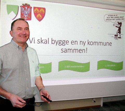 Prosjektrådmann Hans Erik Utne er invitert på KrFs møte om kommunesammenslåing.