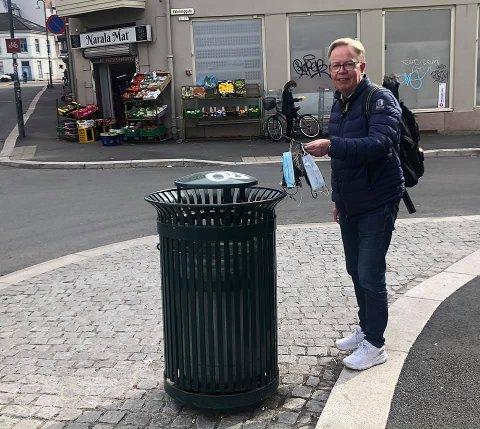 KAMPLYSTEN: Hver dag går Roger Zahl Ødegård på tur i Oslos gater og håper at han ser mindre søppel enn dagen før.