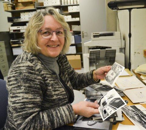 Ledig Tid: May Sissel Frøynes har arbeidet som fingeravtrykksekspert i Kripos i mange år. Nå er hun pensjonist og bruker ledig tid på å digitalisere gamle bilder fra Halden. alle foto: trine bakke eidissen
