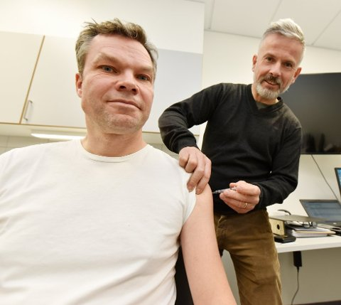 Kommuneoverlege Morten Bergkåsa vaksinerer seg årlig av hensyn til pasienter.