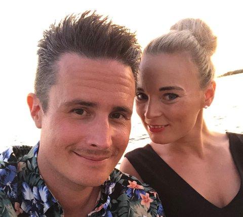 KJÆRESTER: Christian Ottesen og Cecilia Vik traff hverandre i april. Cecilia ante at det var noe da folk begynte å omtale kjæresten som «MrChristian».
