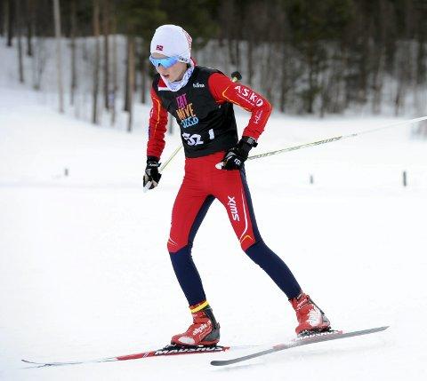 SPENNENDE: Mats Høynes Rustad er en spennende langrennsløper. det til tross for at det er mindre enn to år siden han begynte å satse på skisporten.