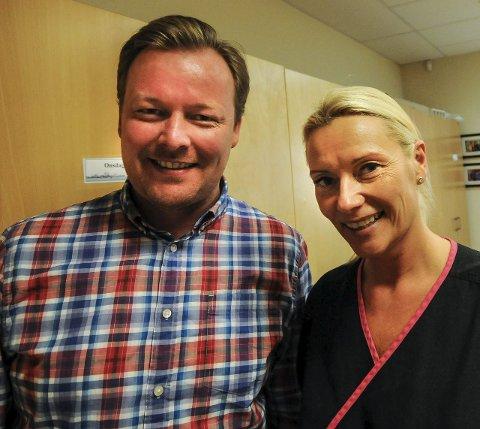 Håper mange blir med: Stian Sandersen og Katrine Bakke håper å se mange i Gerpen bygdepark kommende søndag.