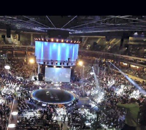 Slik så det ut i O2 arena under arrangementet «Lyconet Elite Seminar» i Praha i mai i år.