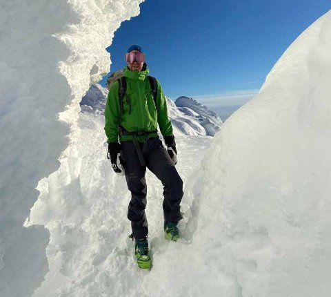 Nils-Fredrik Solem slapp fra snøskredet i helgen med skrekken.
